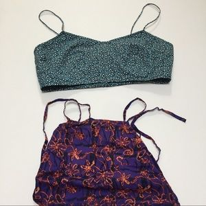 Two urban outfitters bralettes